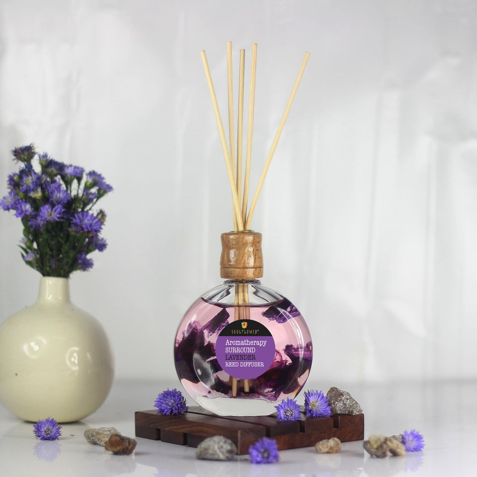Reed Diffuser Online India - SOULFLOWER SURROUND REED DIFFUSER- LAVENDER