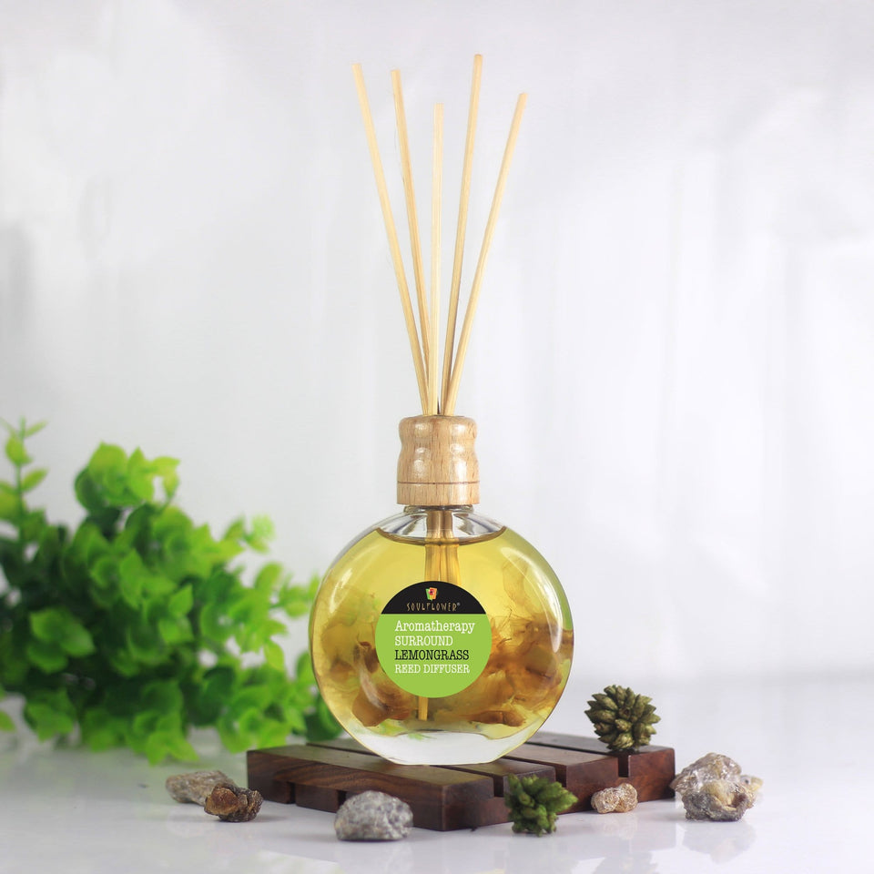 Reed Diffuser Online India - SOULFLOWER SURROUND REED DIIFFUSER- LEMONGRASS