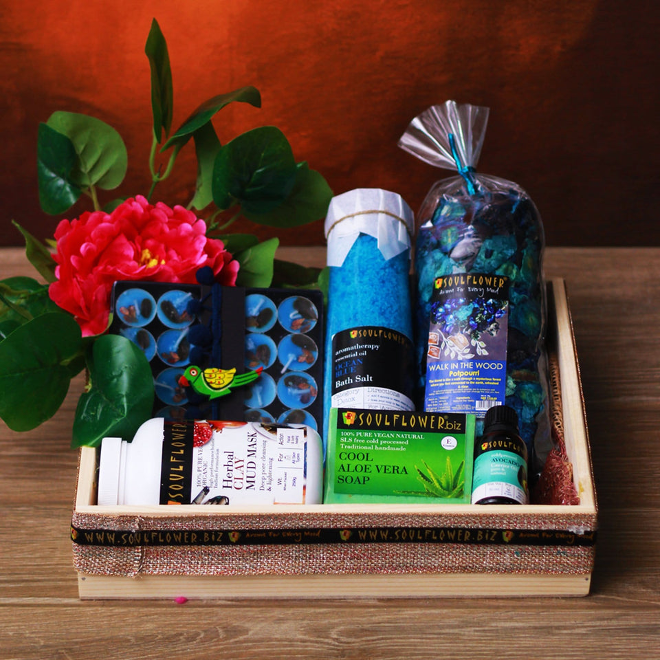 Soulflower Royal Rejuvenation Hamper- Walk in the Wood - wedding gift for couple