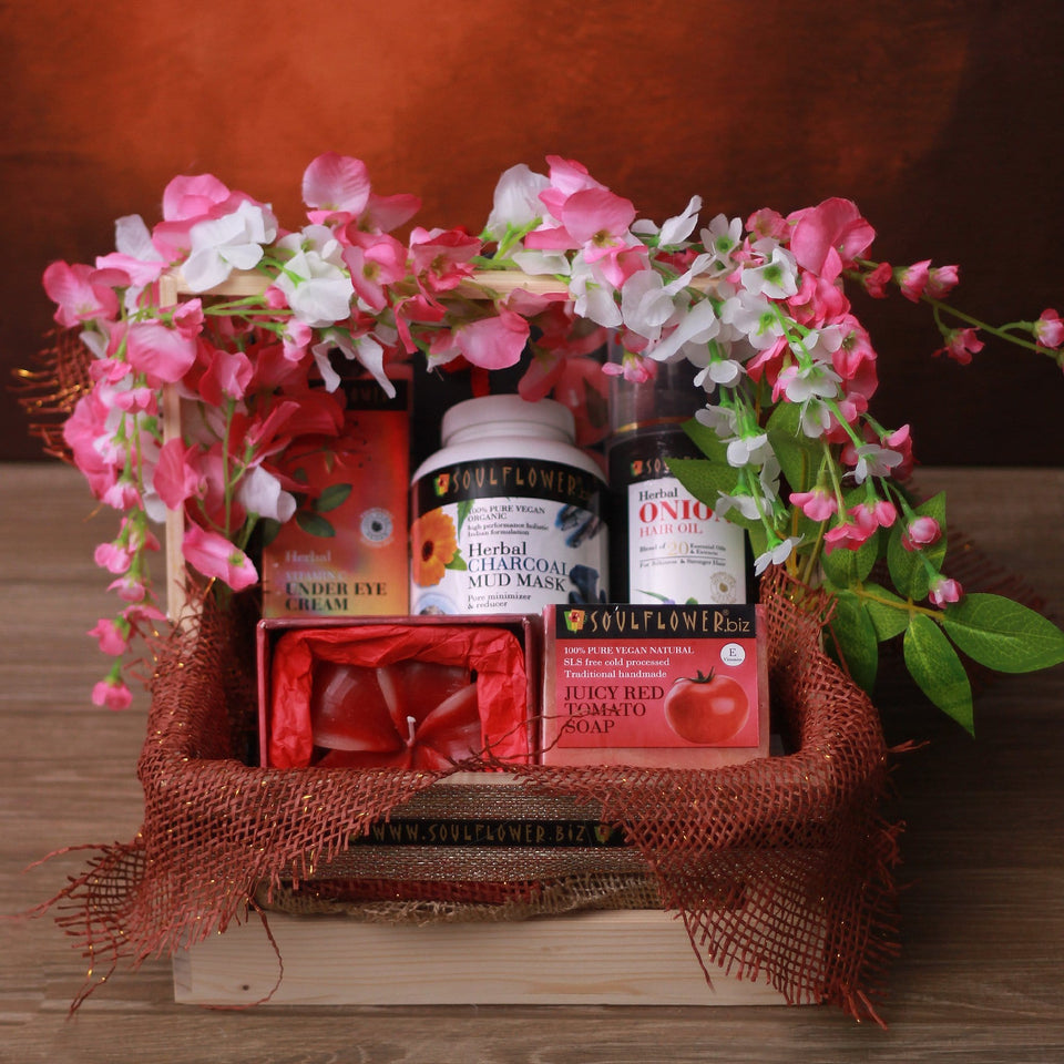 Soulflower Shine Cleanbeauty Basket - wedding gift shop near me