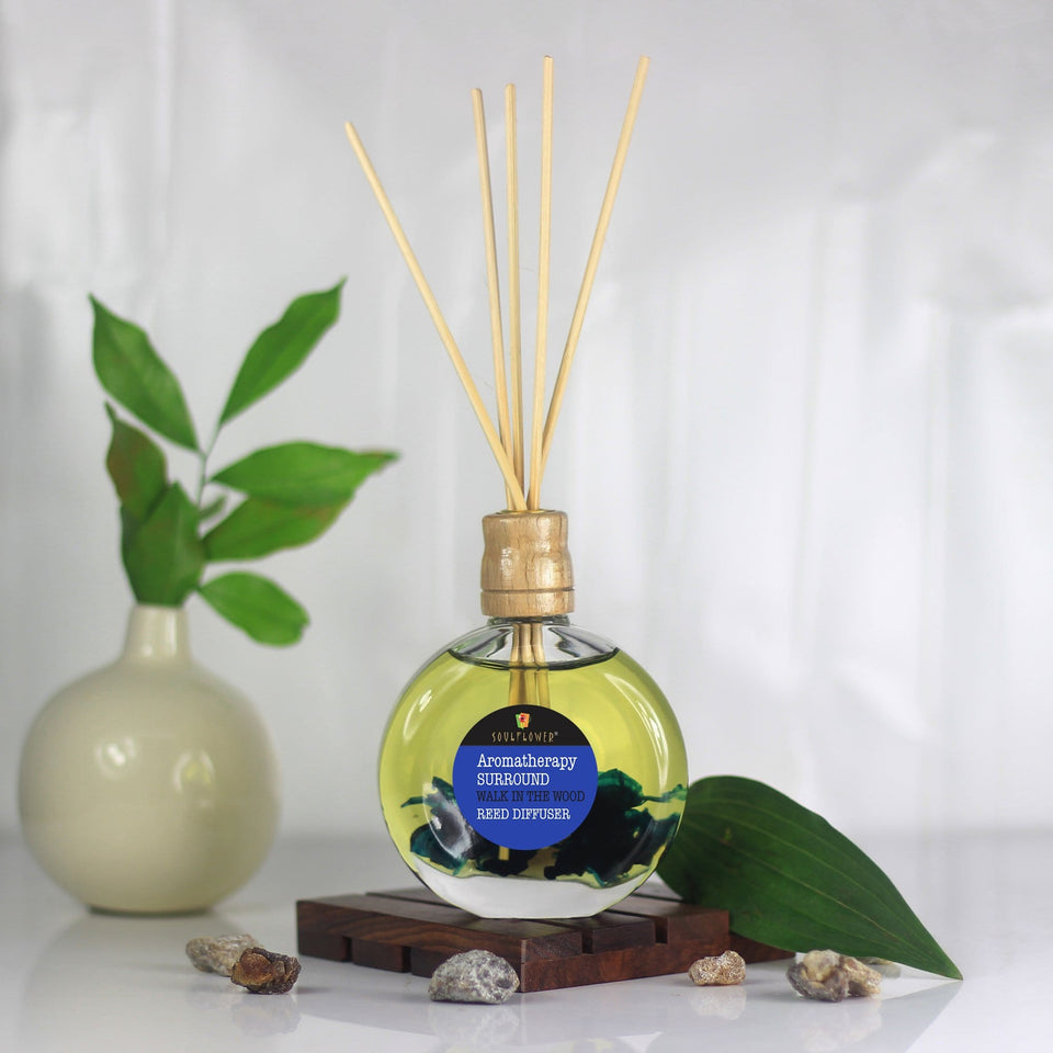 SOULFLOWER SURROUND REED DIIFFUSER- WALK IN THE WOOD - Reed Diffuser Online India -
