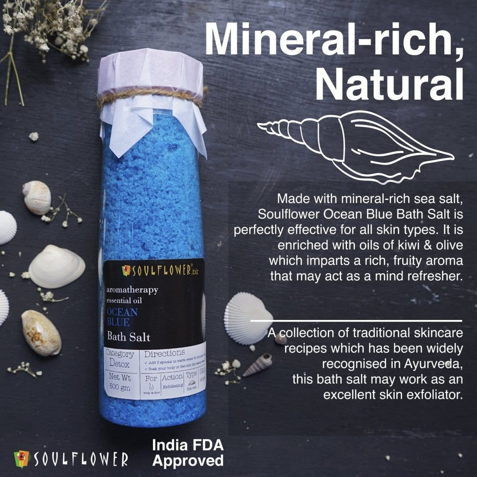 Best Bath Salts 100% pure ocean blue with kiwi fruit oil revitalizes skin at best price