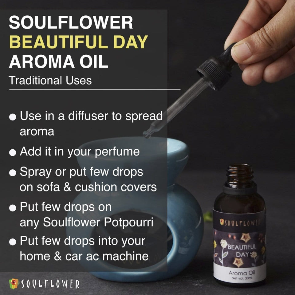 SOULFLOWER AROMA OIL BEAUTIFUL DAY, 30ML - Soulflower