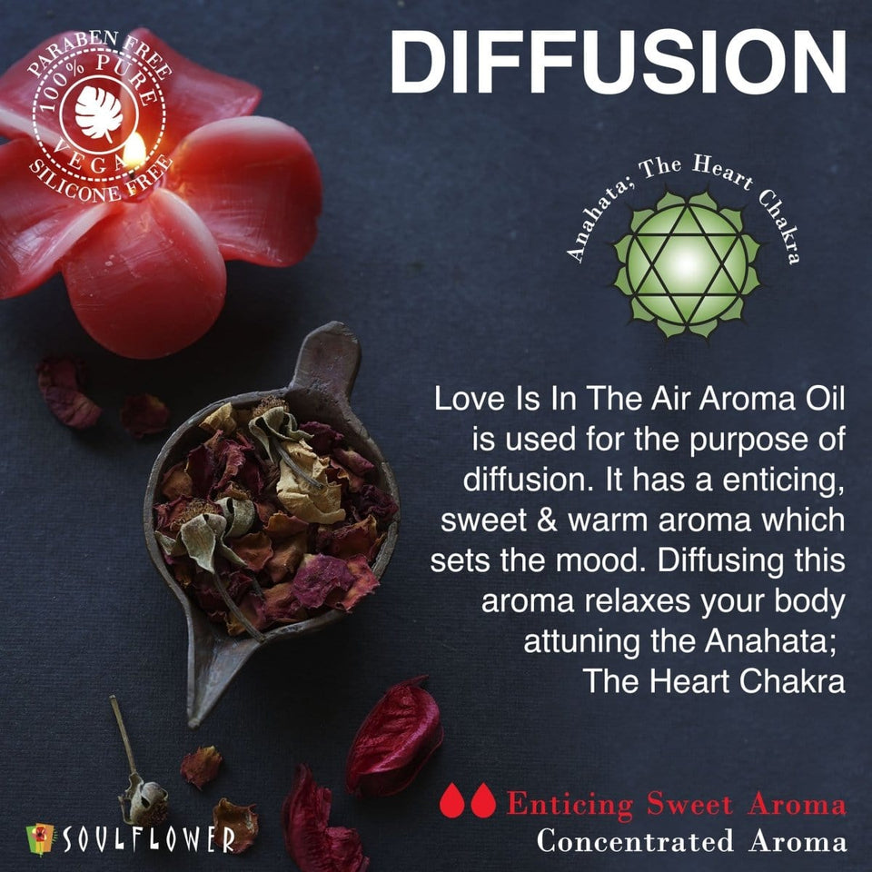 SOULFLOWER AROMA OIL LOVE IS IN THE AIR, 30ML - Soulflower