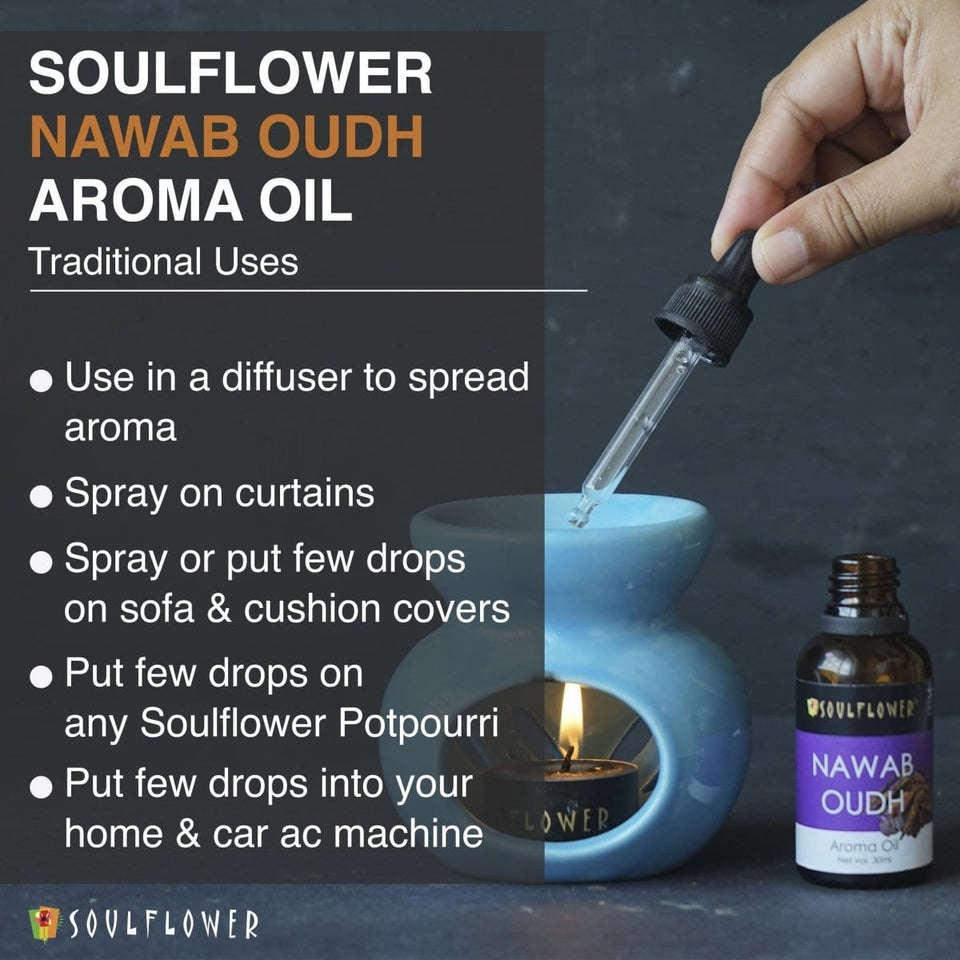 SOULFLOWER AROMA OIL NAWAB OUDH, 30ML - Soulflower