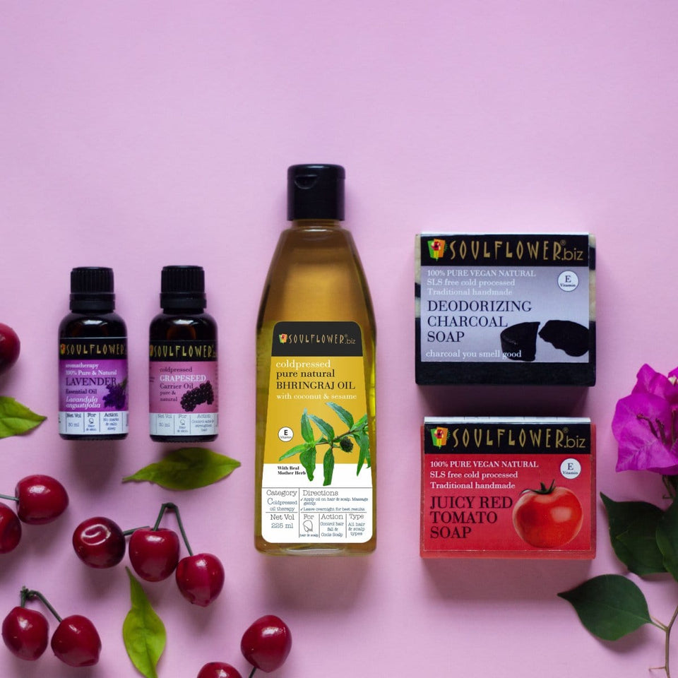 SOULFLOWER BEAT THE SUMMER MONTHLY REGIME WITH FREE APPLICATOR SET - Soulflower