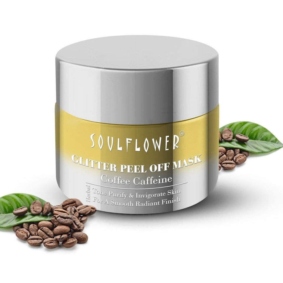 SOULFLOWER COFFEE GLITTER PEEL-OFF MASK, 100g - Soulflower