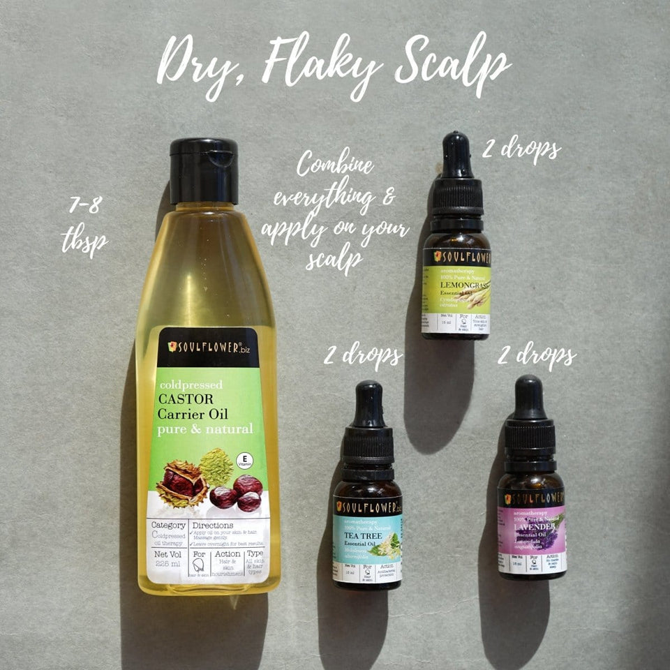 SOULFLOWER DRY FLAKY SCALP CARE MONTHLY ROUTINE WITH FREE APPLICATOR SET - Soulflower