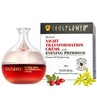 Soulflower Herbal Night Transformation Crème with Evening Primrose, 60GM