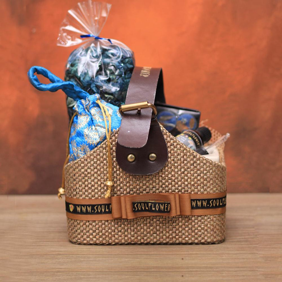 Soulflower Home Aura Aromatherapy Basket- Walk In The Wood - Soulflower