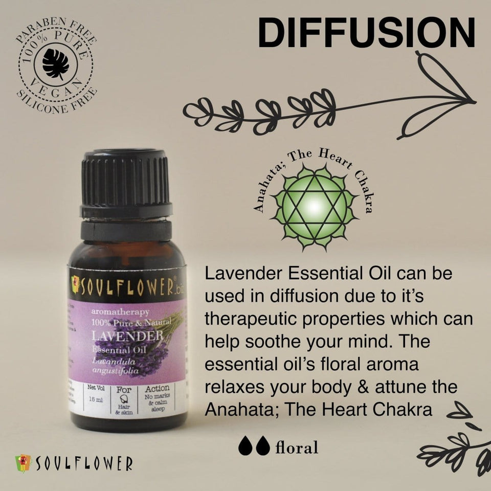 SOULFLOWER LAVENDER ESSENTIAL OIL, 15ML - Soulflower