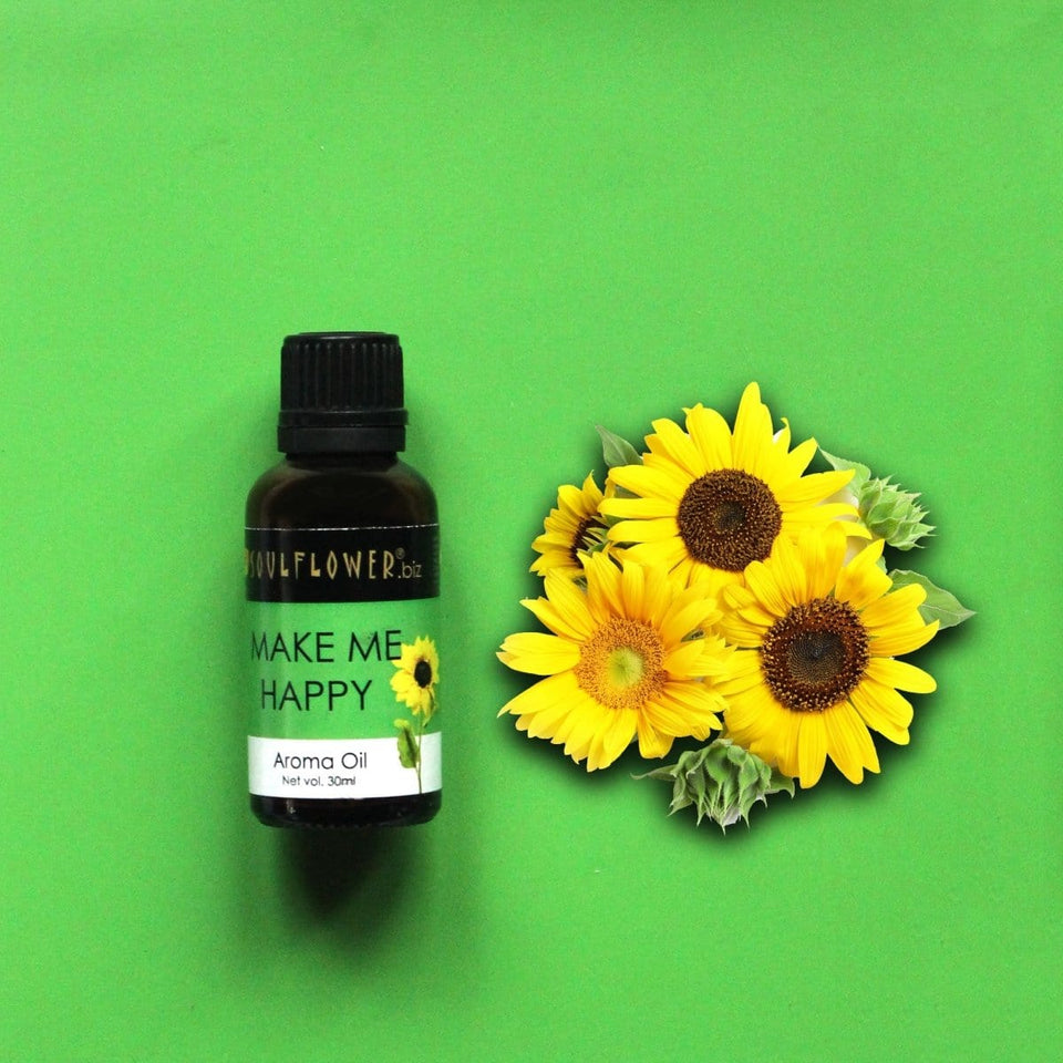 SOULFLOWER MAKE ME HAPPY AROMA OIL, 30ML - Soulflower
