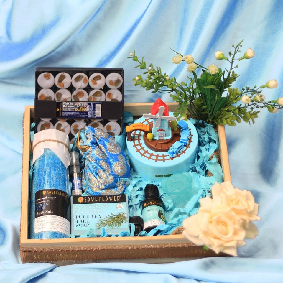 Soulflower Mommy Care Giftset- Blue - Soulflower