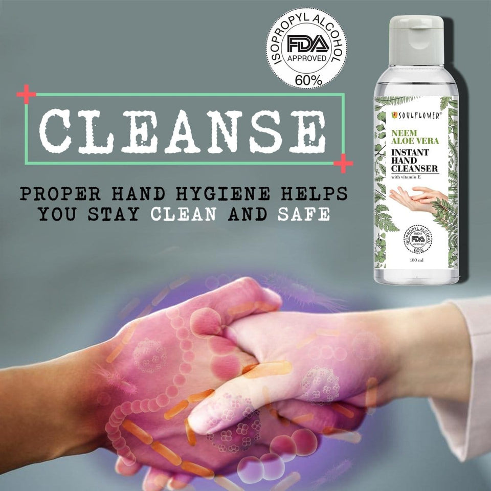 best hassle free sanitizer with Aloe Vera, Neem & Peppermint extracts