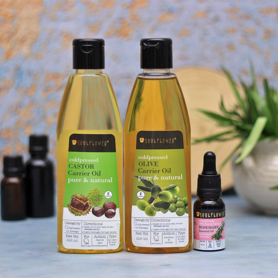 SOULFLOWER OIL CLEANSING MONTHLY REGIME FOR DRY SKIN WITH FREE APPLICATOR SET - Soulflower