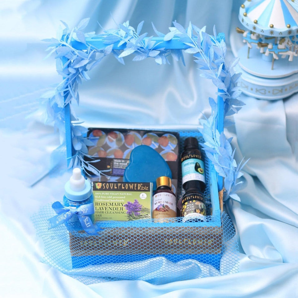 Soulflower Relax Mommy Giftset- Blue