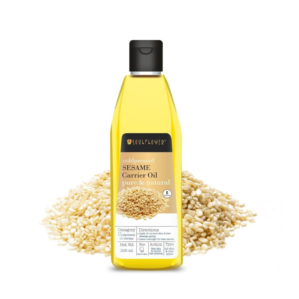 Soulflower Sesame Oil Coldpressed, 225ML