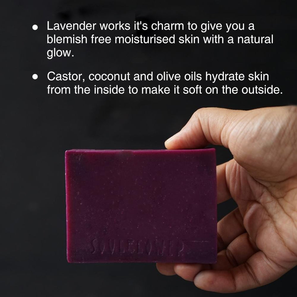Soulflower Skin Lavender Soap, 150g