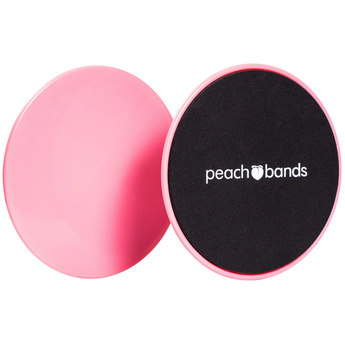 Core Sliders-Peach Bands Fitness Exercise Discs for Abs Pink