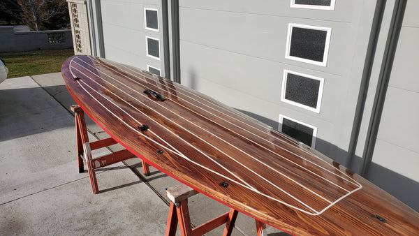 Cedar strip wood paddle board