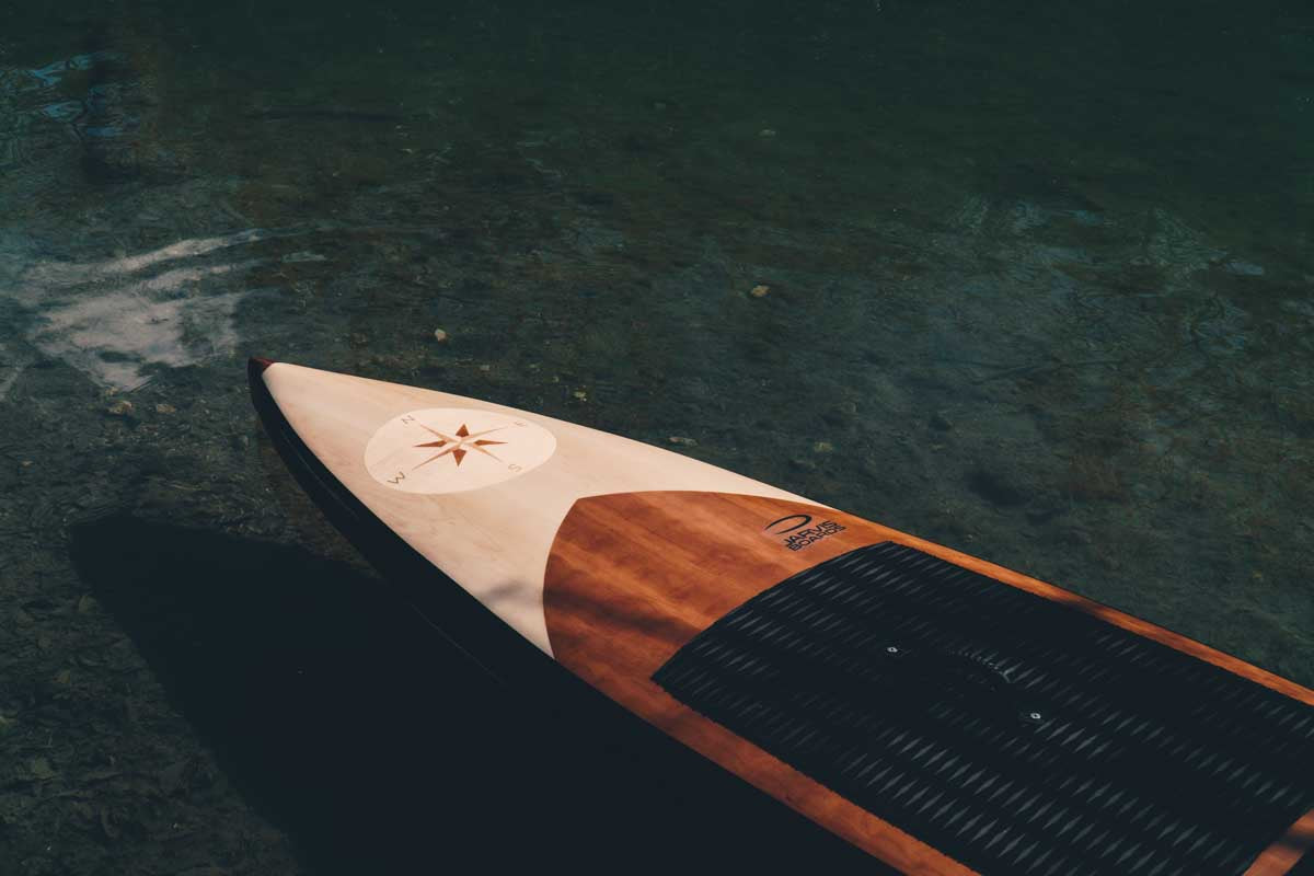 One of a kind light weight paddle board by Jarvis Boards