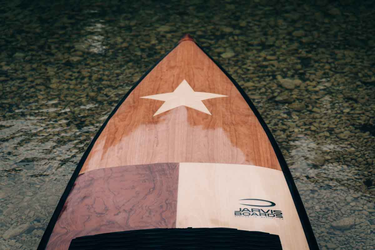 Austin Texas wood paddle board