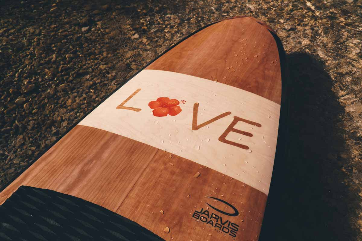 Premium wood paddle board