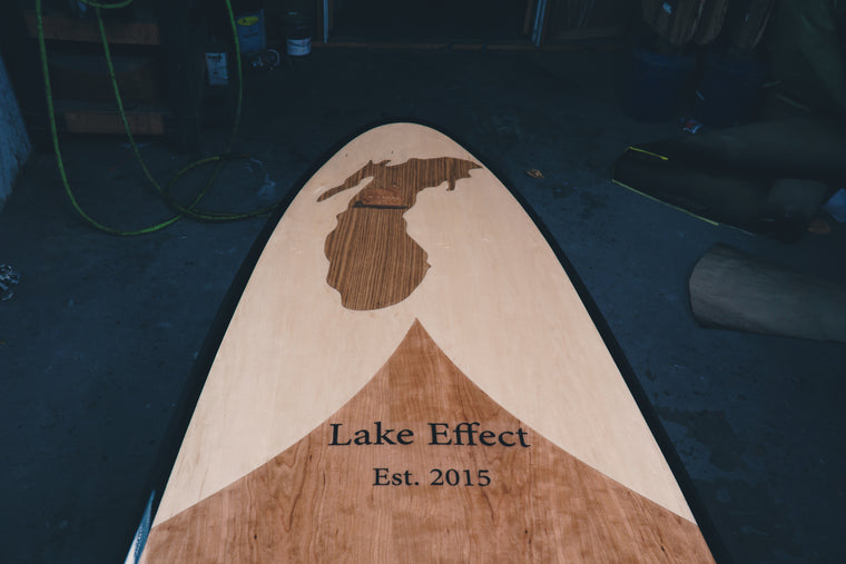 Wood paddle board