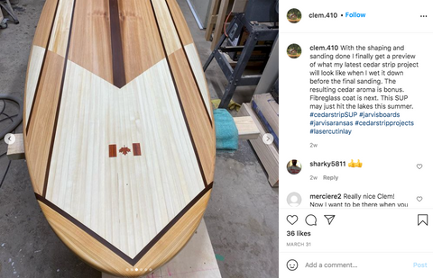 hollow core wood paddle board plans