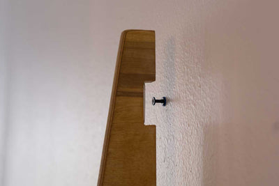 Horizontal Wood board wall mount storage rack