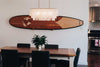Stylish surfboard wall storage