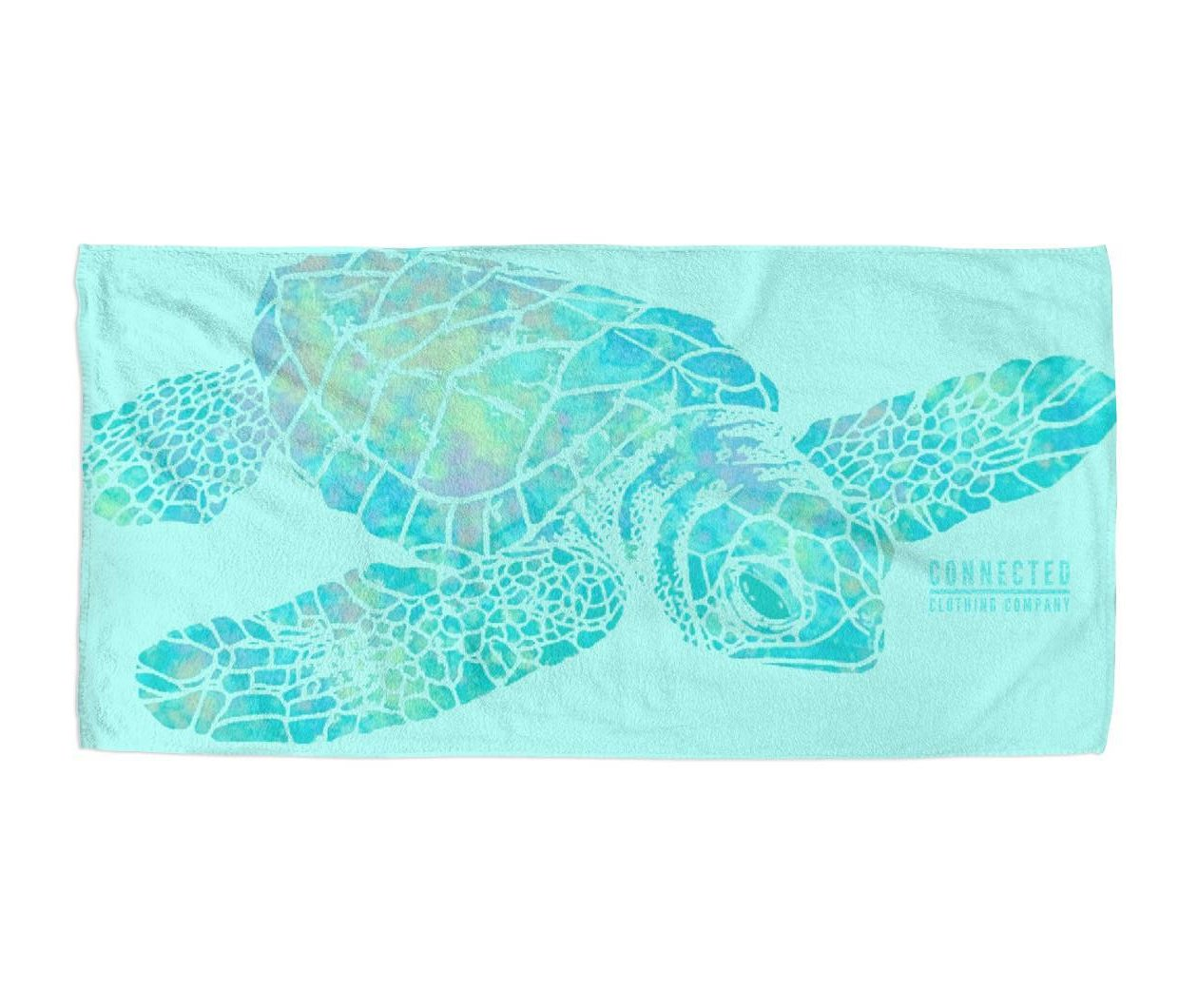 Colorful Sea Turtle Beach Towel - Connected Clothing Company