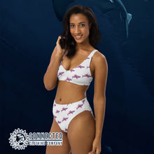 Load image into Gallery viewer, 3D Shark Recycled Bikini - 2 piece high waisted bottom bikini - Connected Clothing Company - Ethically and Sustainably Made Apparel - 10% of profits donated to ocean conservation