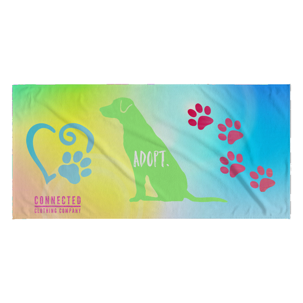 Pawesome Adopt Beach Towel - Connected Clothing Company