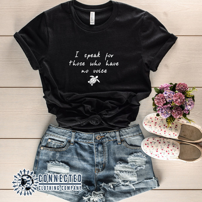 Black Be The Voice Sea Turtle Tee reads