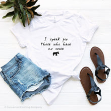Load image into Gallery viewer, White Be The Voice Rhino Short-Sleeve Tee - Connected Clothing Company - 10% of profits donated to Save The Rhino International