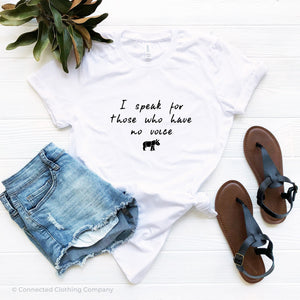 White Be The Voice Rhino Short-Sleeve Tee - Connected Clothing Company - 10% of profits donated to Save The Rhino International