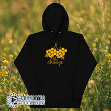 Load image into Gallery viewer, Black Bee The Change Unisex Hoodie - Connected Clothing Company - Ethically and Sustainably Made - 10% donated to The Honeybee Conservancy