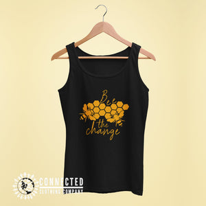 Black Bee The Change Women's Tank - Connected Clothing Company - 10% of profits donated to the Honeybee Conservancy