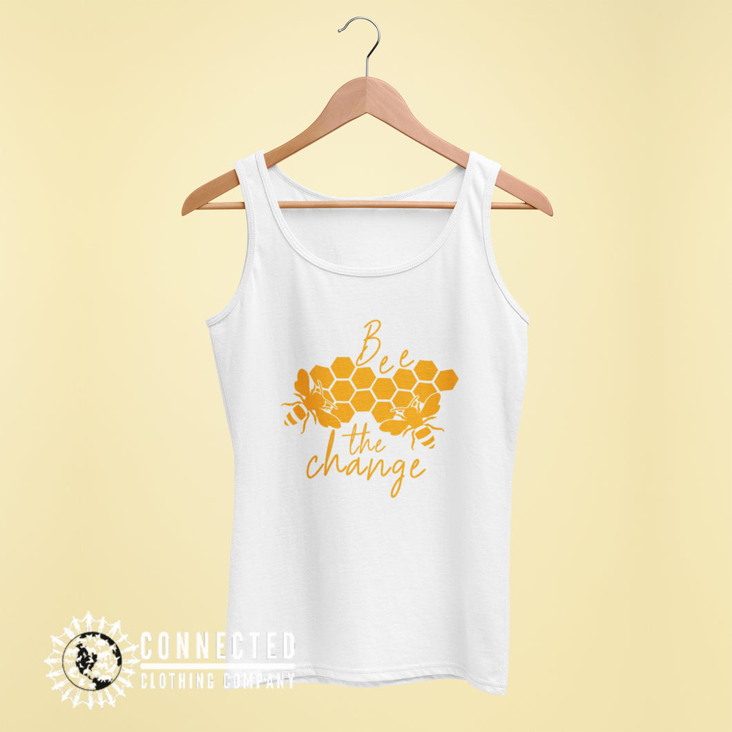White Bee The Change Women's Tank - Connected Clothing Company - 10% of profits donated to the Honeybee Conservancy