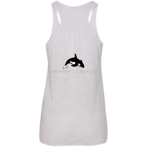 Prevent Cruelty Orca Flowy Racerback Tank - Connected Clothing Company
