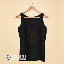 Load image into Gallery viewer, Black Giraffe Silent Extinction Women's Tank Top - Connected Clothing Company - 10% of profits donated to the Giraffe Conservation Foundation