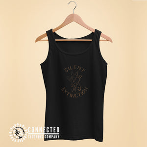 Black Giraffe Silent Extinction Women's Tank Top - Connected Clothing Company - 10% of profits donated to the Giraffe Conservation Foundation