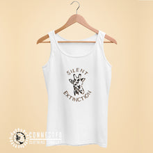 Load image into Gallery viewer, White Giraffe Silent Extinction Women's Tank Top - Connected Clothing Company - 10% of profits donated to the Giraffe Conservation Foundation