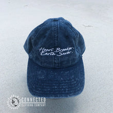 Load image into Gallery viewer, Heart Breaker. Earth Saver. Cotton Dad Hat - Connected Clothing Company - Ethically and Sustainably Made - 10% donated to Mission Blue ocean conservation