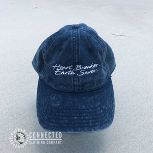 Heart Breaker. Earth Saver. Cotton Dad Hat - Connected Clothing Company - Ethically and Sustainably Made - 10% donated to Mission Blue ocean conservation