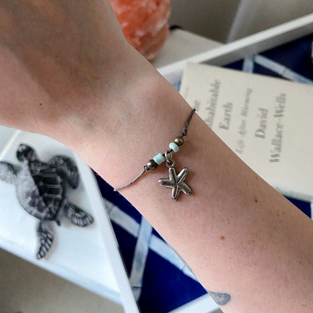 Starfish Wish Bracelet - Connected Clothing Company - Ethically and Sustainably Made - 10% donated to Mission Blue ocean conservation