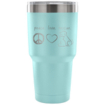 Peace Love Rescue Tumbler - Connected Clothing Company - 10% of profits donated