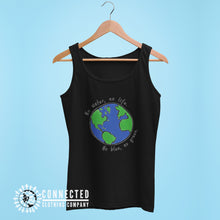 Load image into Gallery viewer, Black No Blue No Green Women's Relaxed Tank - Connected Clothing Company - Ethically and Sustainably Made - 10% of profits donated to Mission Blue ocean conservation