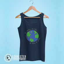 Load image into Gallery viewer, Navy No Blue No Green Women's Relaxed Tank - Connected Clothing Company - Ethically and Sustainably Made - 10% of profits donated to Mission Blue ocean conservation
